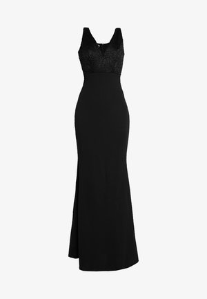 V NECK MAXI - Occasion wear - black