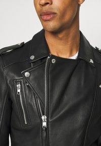 Tigha - BONE - Leather jacket - black - 4