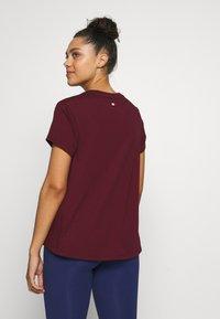 Tommy Sport - MIX CHEST LOGO - Print T-shirt - purple - 2