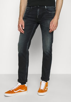 ANBASS - Jeans Tapered Fit - black denim