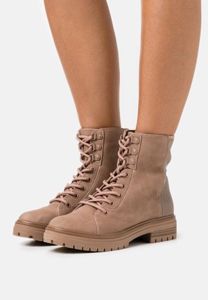 ALEXIA - Lace-up ankle boots - dark beige