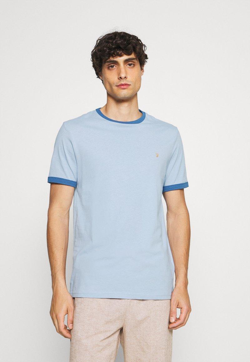 Farah - GROVES RINGER TEE - Print T-shirt - ocean blue