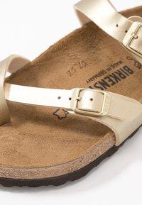 Birkenstock - MAYARI - T-bar sandals - gold - 2