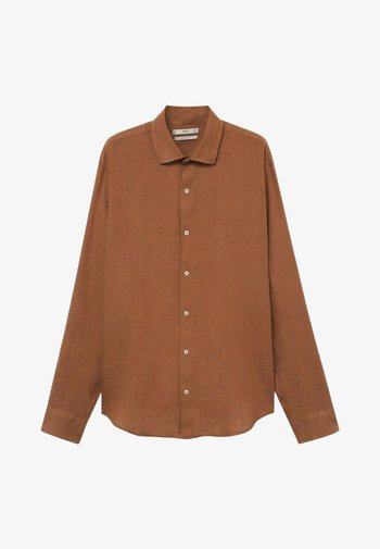 REGULAR FIT - Overhemd - burnt orange