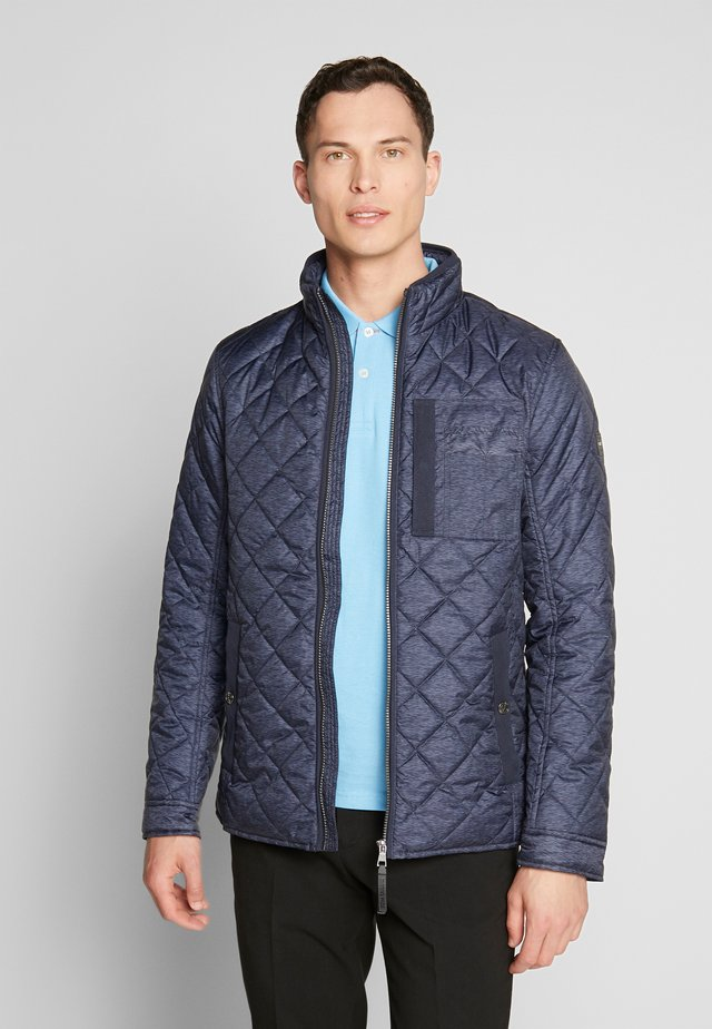QUILTED SHIRT JACKET - Giacca da mezza stagione - blue