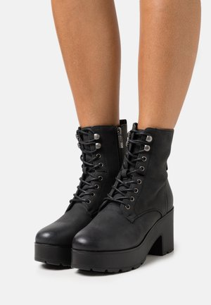 EMELINE - Bottines à lacets - black