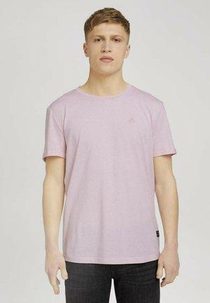 T-shirt - bas - soft peach skin melange