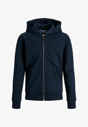 JJEBASIC ZIP HOOD  - Zip-up hoodie - navy blazer