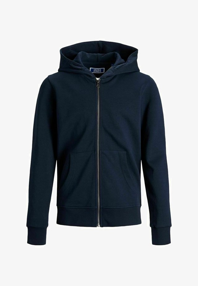 JJEBASIC ZIP HOOD  - Collegetakki - navy blazer