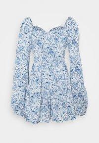 Missguided - PAISLEY BUTTON TRHOUGH SWEETHEART DRESS - Denní šaty - blue - 1