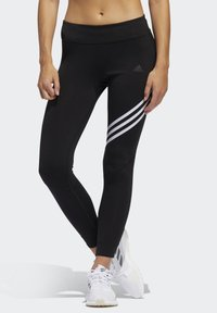 adidas Performance - RUN IT 3-STRIPES 7/8 LEGGINGS - Medias - black - 0