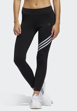 RUN IT 3-STRIPES 7/8 LEGGINGS - Punčochy - black