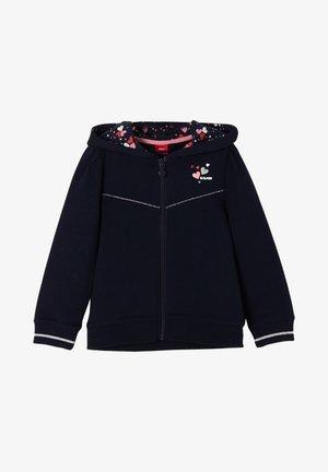 MIT BEDRUCKTER KAPUZE - Zip-up hoodie - blue
