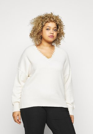 PCDAISY OPEN BACK - Jumper - whitecap gray