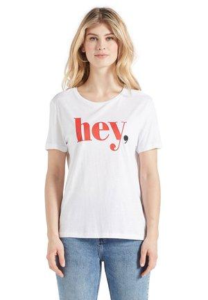 BANANI HEY - Print T-shirt - weiß