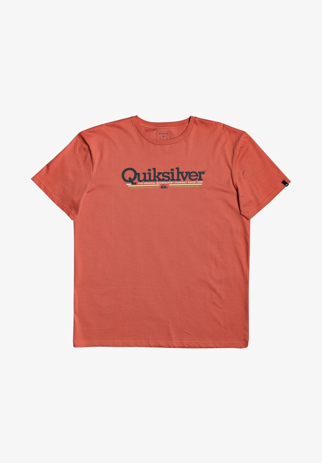 TROPICAL LINES - Print T-shirt - chili