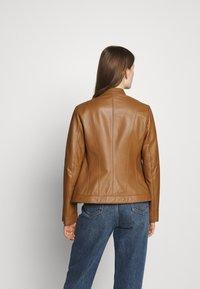 HUGO - LISAKA - Leather jacket - rust/copper - 2