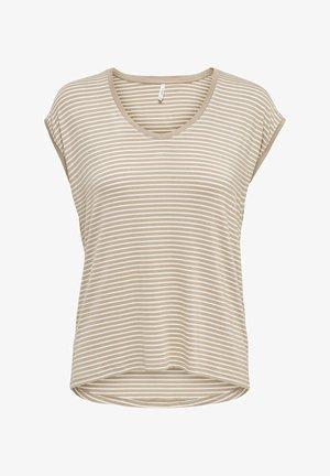 MIT KURZEN ÄRMELN LOCKERES - Print T-shirt - humus