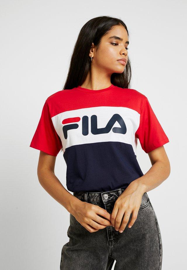 ALLISON TEE - T-shirt med print - black iris/bright white/true red