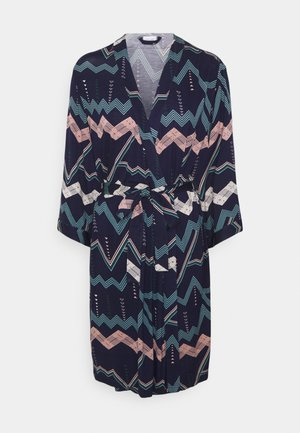 NATIVE KIMONO - Dressing gown - dark blue