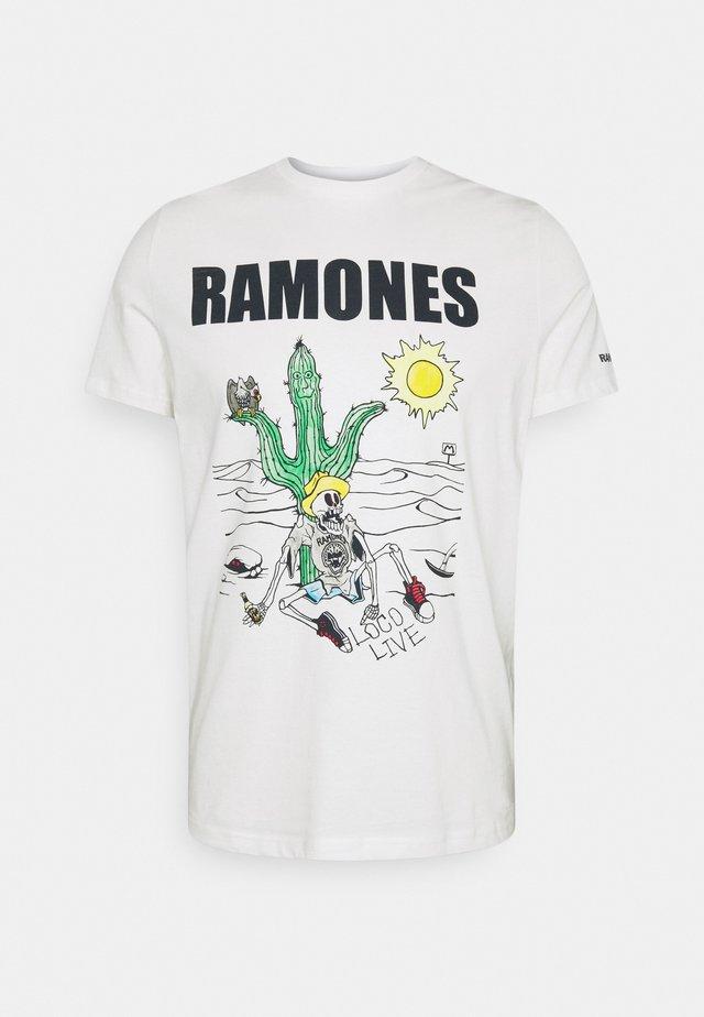 RAMONES - T-shirts med print - ivory