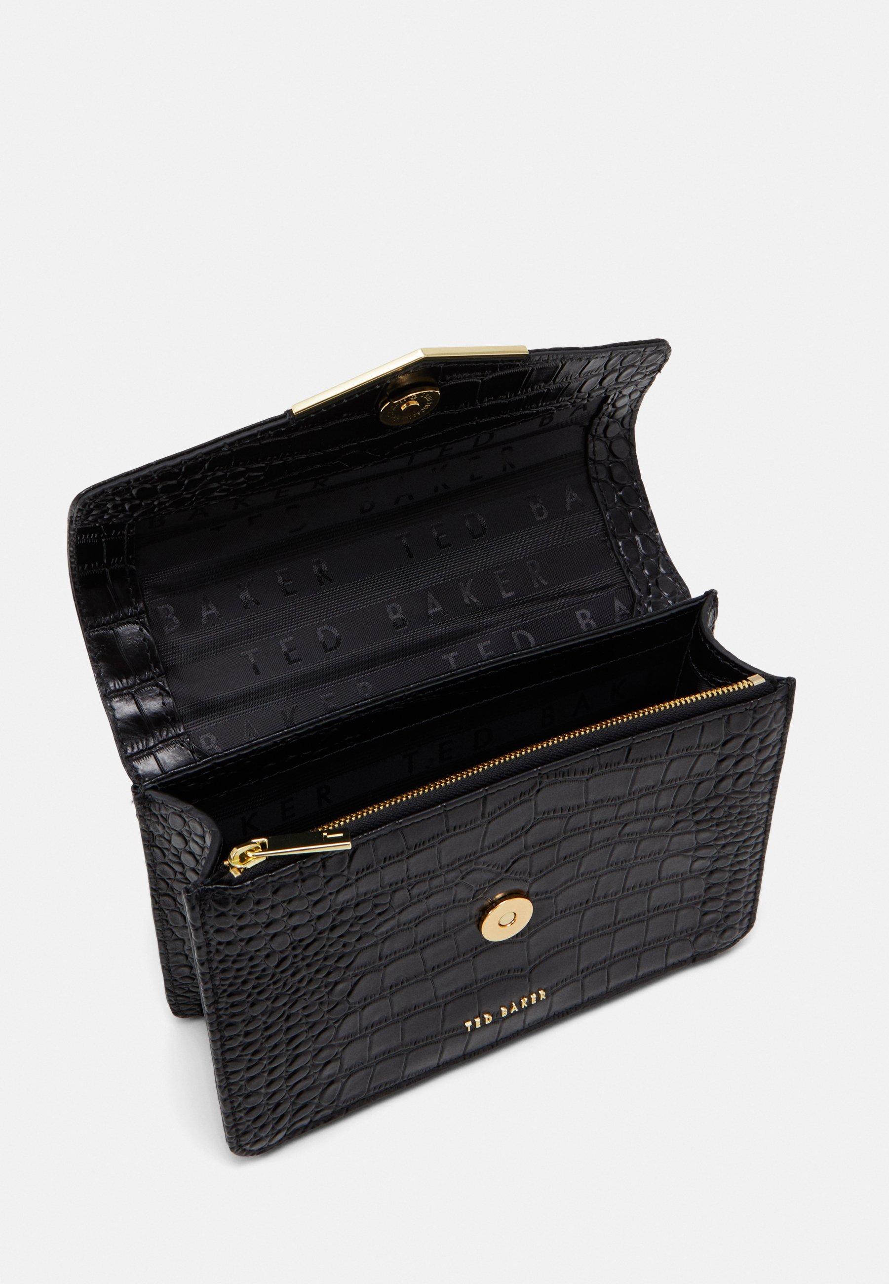 Ted Baker Beks Sandalwood Imitation Croc Envelope Xbody Bag - Umhängetasche Black/schwarz