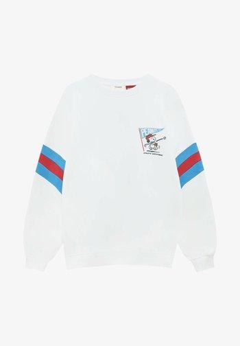 MIT SNOOPY-MOTIV UND COLOUR-BLOCK AUF DEN ÄRMELN - Sweatshirt - off-white