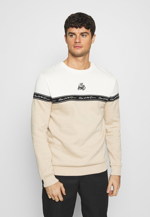 LEPDEN - Sweater - sand/white