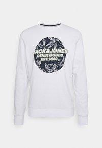 Jack & Jones - JORLEFO CREW NECK - Sweatshirt - white - 0