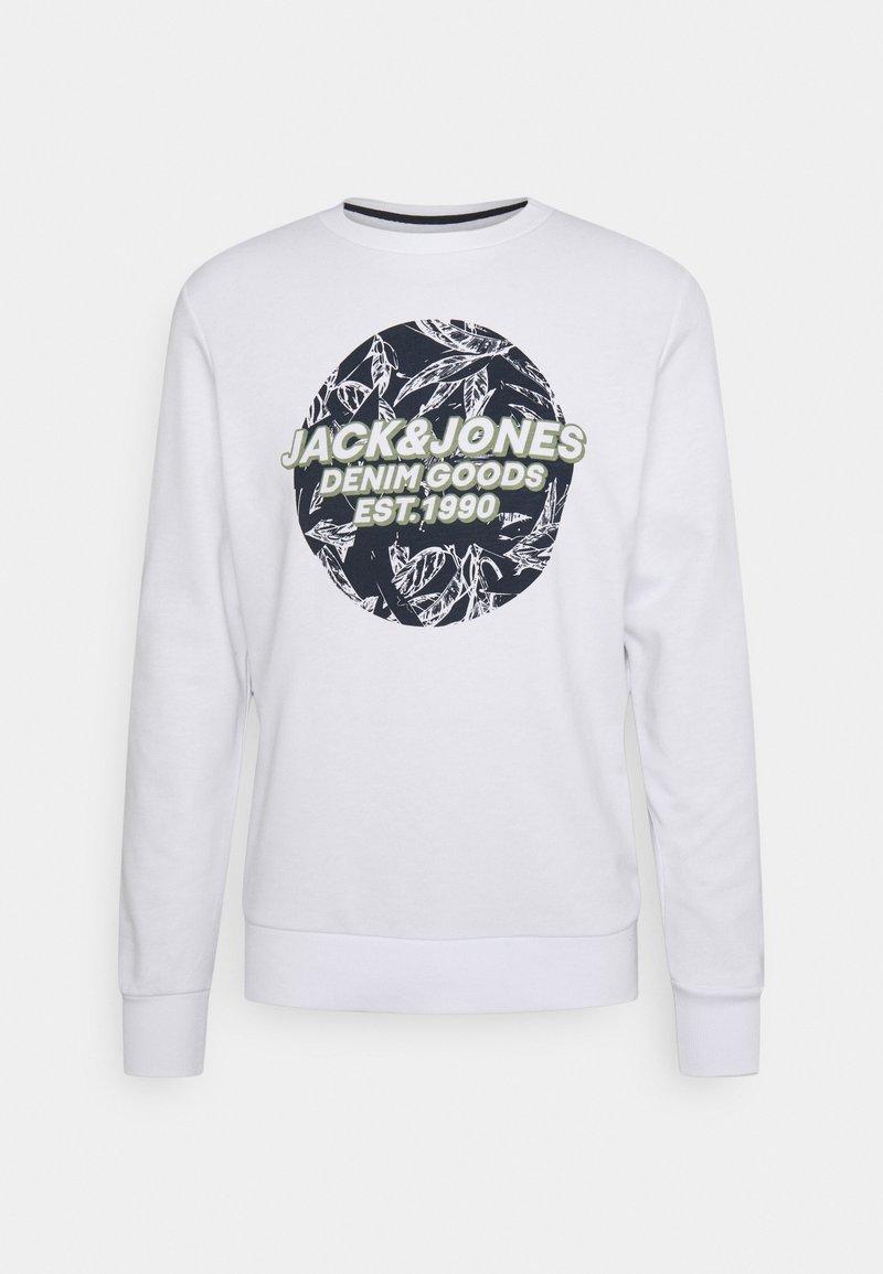 Jack & Jones - JORLEFO CREW NECK - Sweatshirt - white