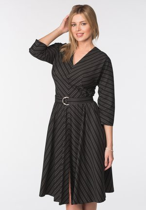 DRESS MILANA - Shift dress - black and gray