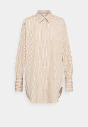 Shirt - Button-down blouse - beige/white