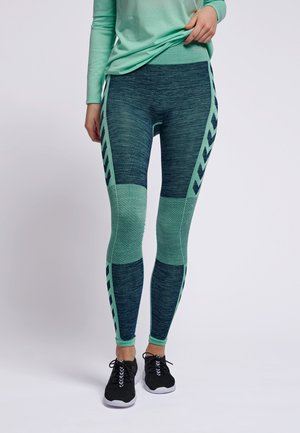 HMLCLEA SEAMLESS - Leggings - ice green melange