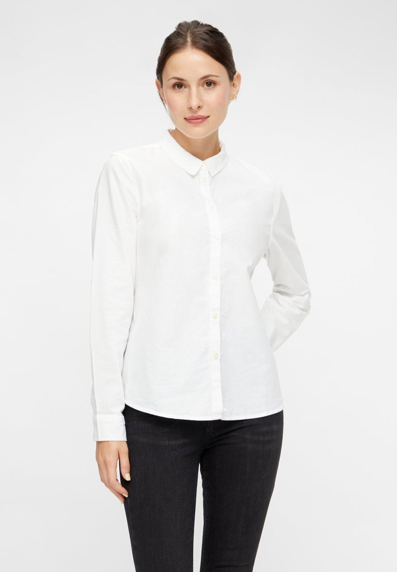Pieces - Button-down blouse - bright white