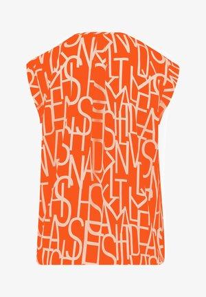 Blouse - orange/white