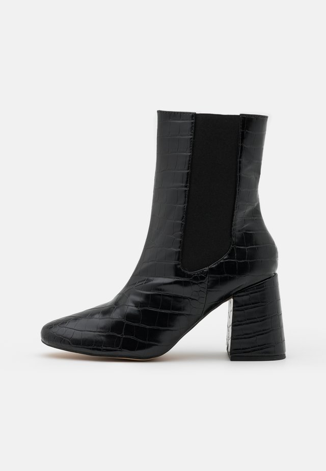 HIGH SHAFT CHELSEA BOOT - Botines - black
