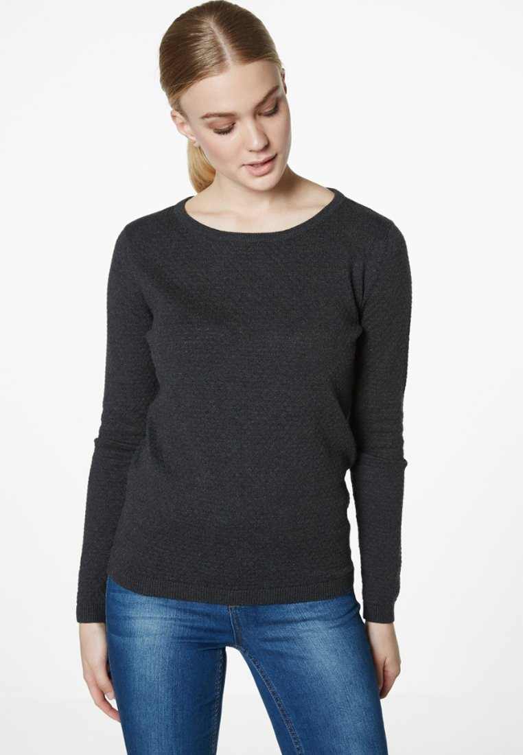 Women VMCARE STRUCTURE O NECK - Jumper - grey