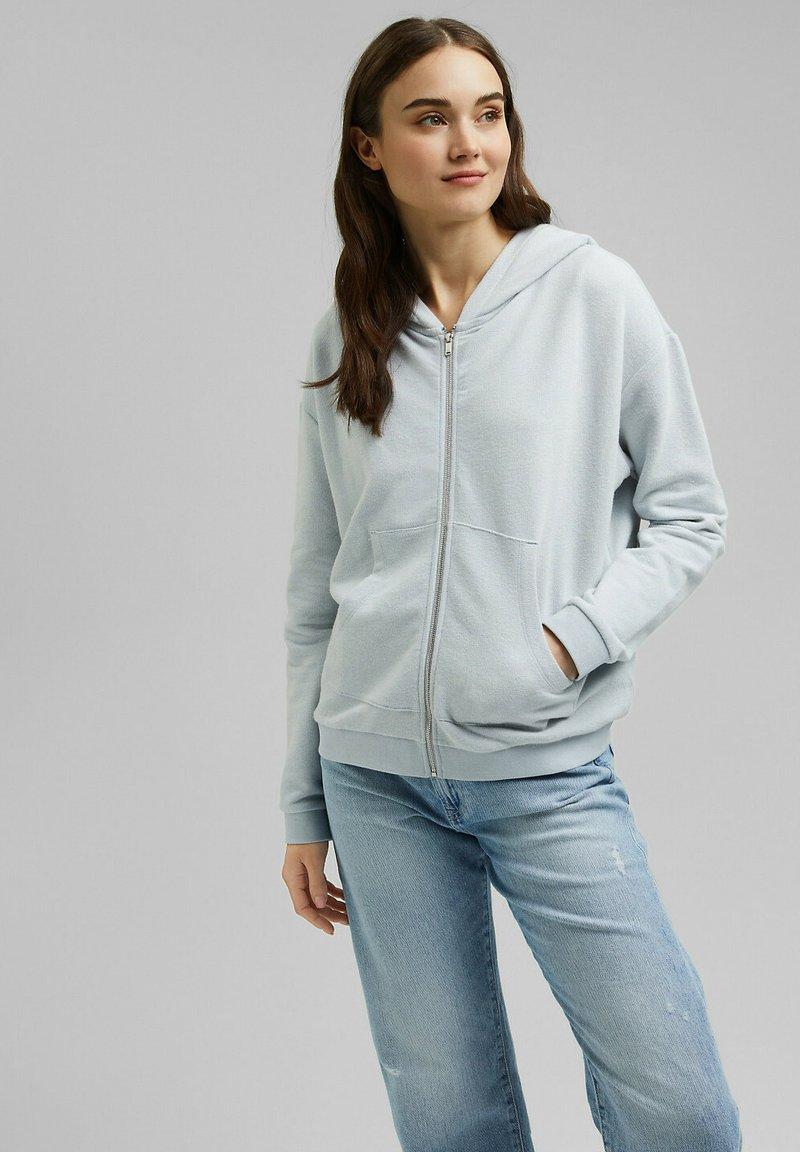 edc by Esprit - Zip-up sweatshirt - light blue lavender
