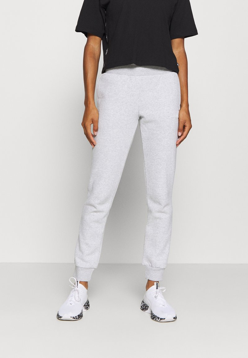 Puma - MODERN BASICS PANTS  - Pantalones deportivos - light gray heather