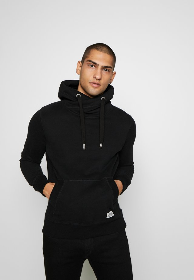 CORE CROSS OVER HOOD - Hoodie - black