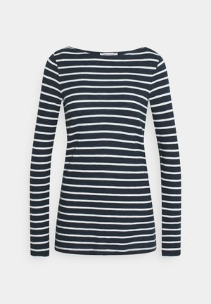 LONG SLEEVE BOAT NECK - Long sleeved top - dark night