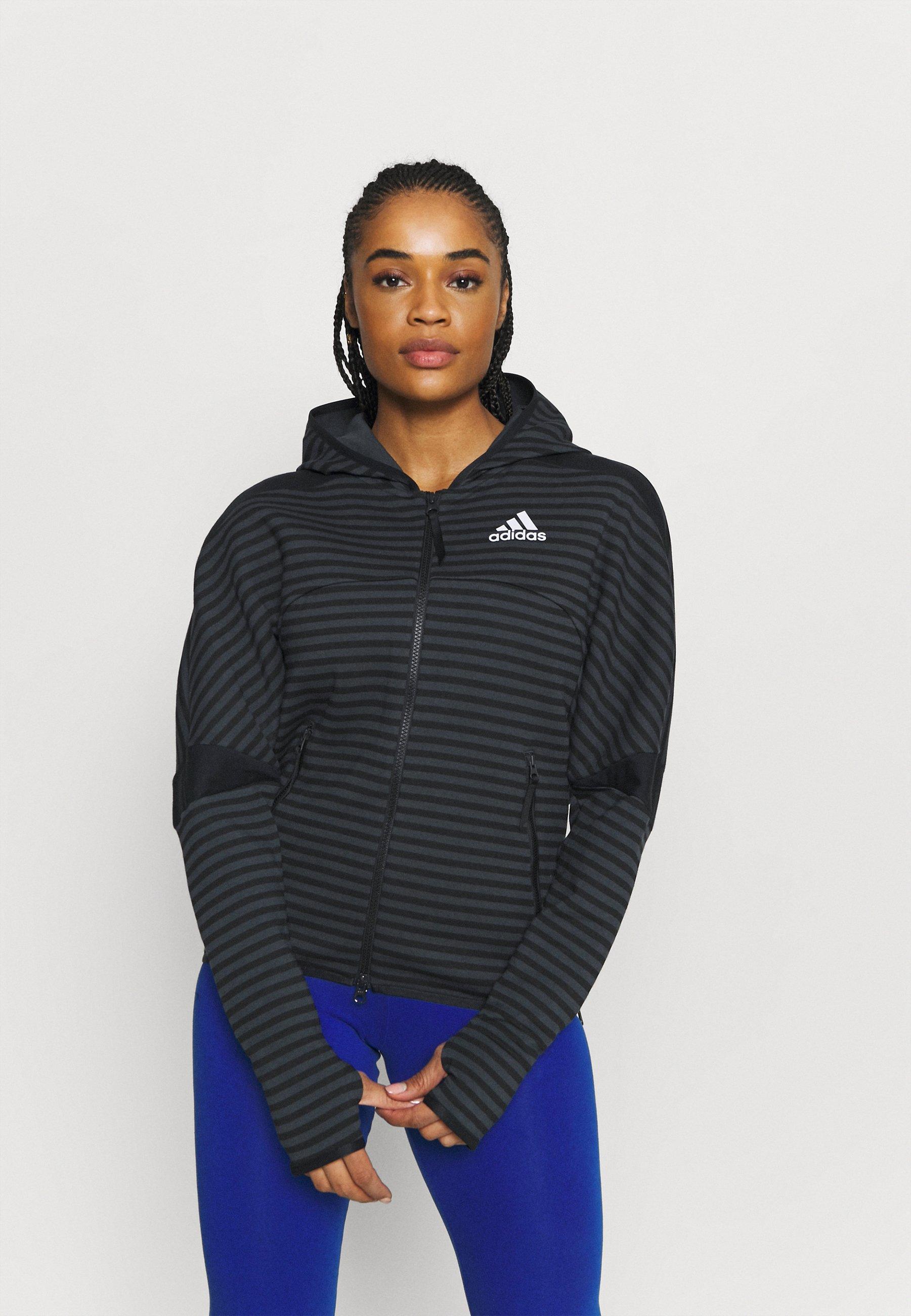Women ADIDAS Z.N.E. SPORTSWEAR STRIPE ALLOVER-PRINT HOODIE - Zip-up sweatshirt
