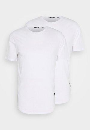 ONSMATT LONGY TEE 2 PACK - T-paita - white
