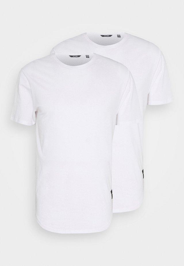 ONSMATT LONGY TEE 2 PACK - Basic T-shirt - white