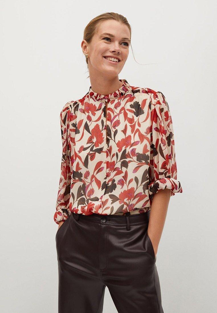 Mango - FLORALIS - Button-down blouse - ecru