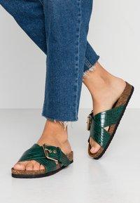ONLY SHOES - ONLMATHILDA SLIP ON - Slippers - dark green - 0