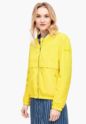 BLOUSONJACKE MIT RIPPBLENDE - Bomber Jacket - yellow