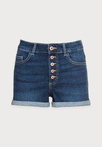 ONLY Petite - ONLHUSH BUTTON PETIT - Denim shorts - dark blue denim - 3