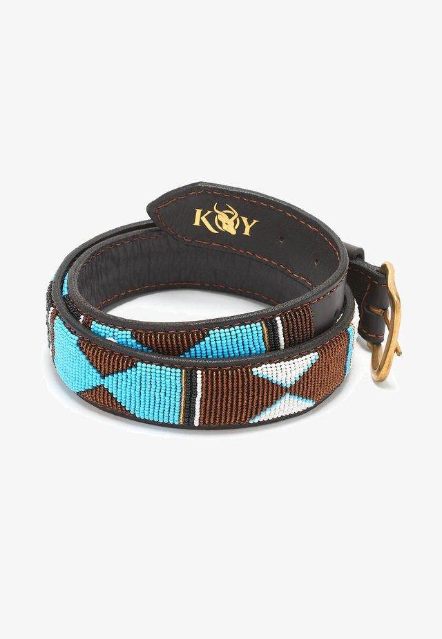 MWEZI (WIDE) - Belt - turquoise/gold