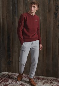 Superdry - Tracksuit bottoms - grey marl - 0